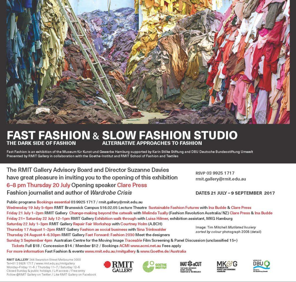 Invite to Slow Fashion Studio and Fast Fashion exhibition