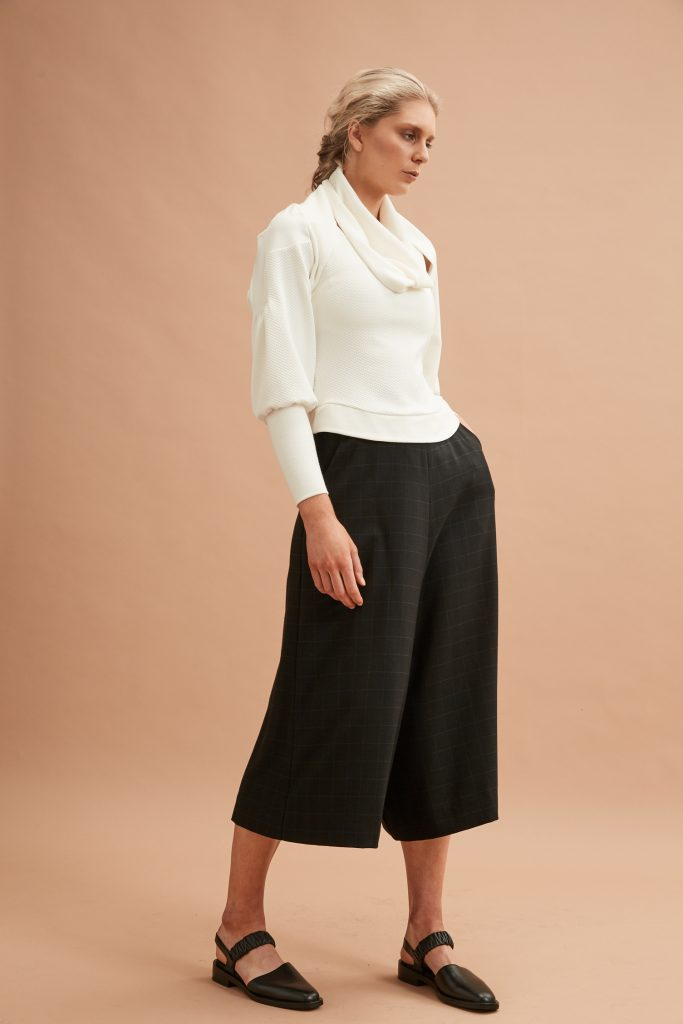 The Culottes worn with the Layered Top