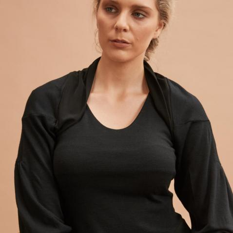 Layered Top in Black front (C)Jo Cramer