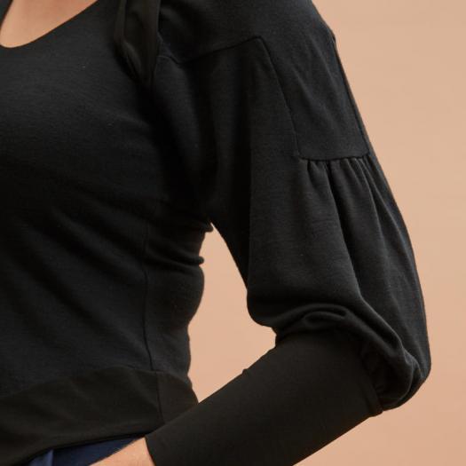 Layered Top in Black sleeve (C)Jo Cramer