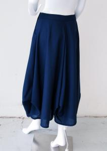 Cowl skirt: back