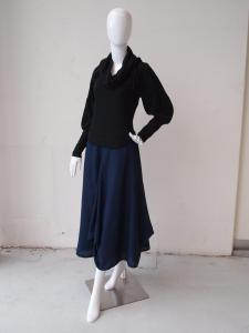 Layered Top and Cowl Skirt