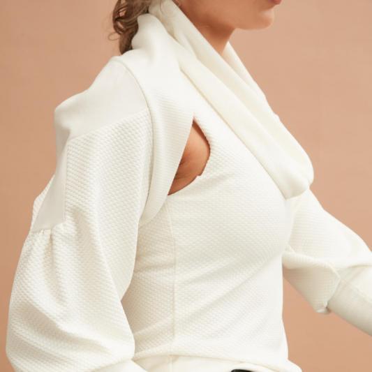 Layered Top in Cream (C)Jo Cramer